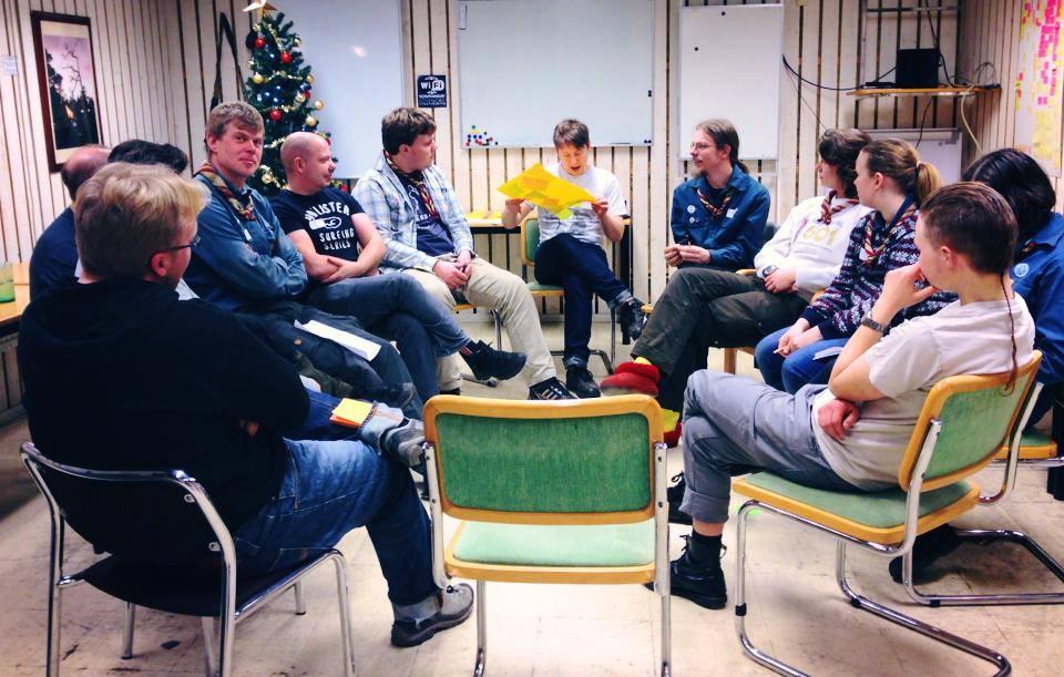 Spåningsträff med Gränslösa den 4 januari 2014. Foto: Nathalie C. Andersson