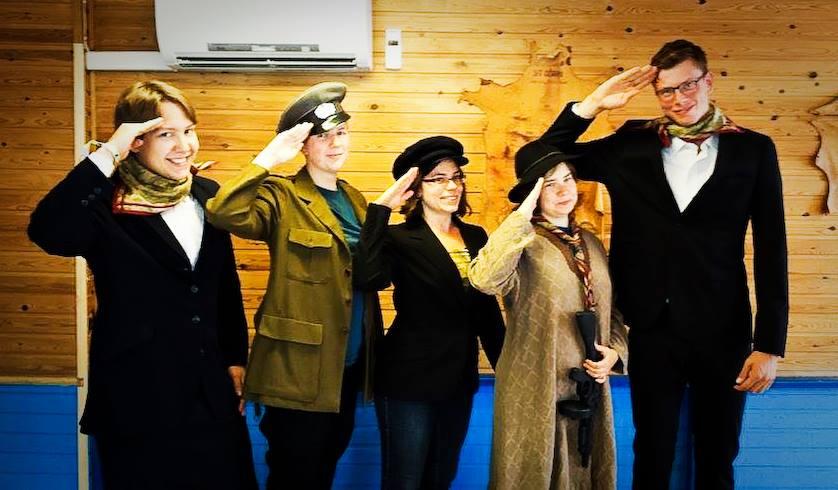 Avgående styrelsen, under kårstämman kända som Gränslösa aviations personal. Foto: Charina Hallberg