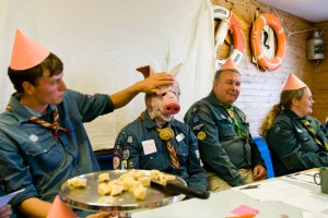 Under diskussionen av alkoholpolicy och matpolicy hölls en grisfest där det bjöds på vegetarisk gris. Foto: Nathalie C. Andersson