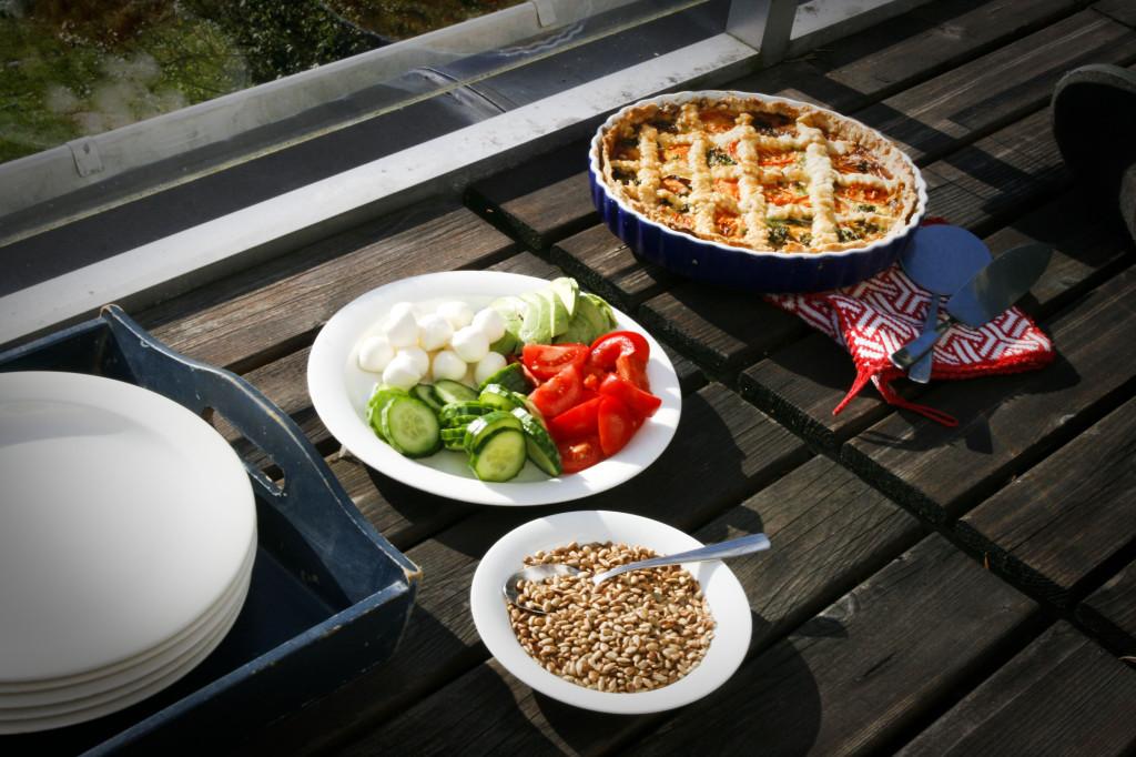 Den fantastiska maten som Lina fixade. Lördag lunch. Foto: Nathalie C. Andersson